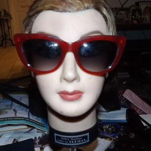 Old Navy Accessories - OLD NAVY RED CAT EYE SUNGLASSES